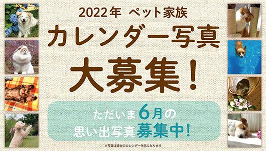 2022年ペット家族カレンダー大募集